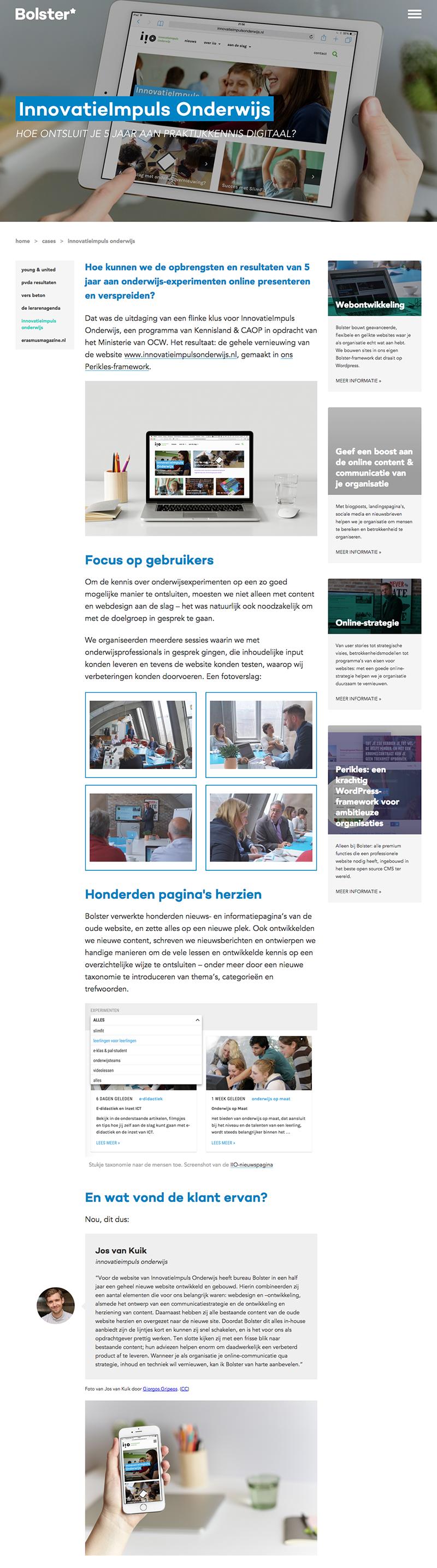 InnovatieImpuls Onderwijs Bureau Bolster